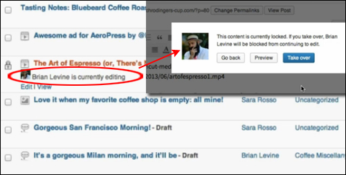 WordPress Update 3.6 - Better Content Locking